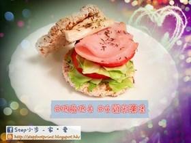 雞脾菇芝士火雞米漢堡